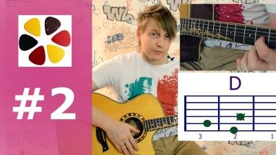 Уроки игры на гитаре для начинающих (урок2)учимся ставить аккорды на примере Пачка сигарет